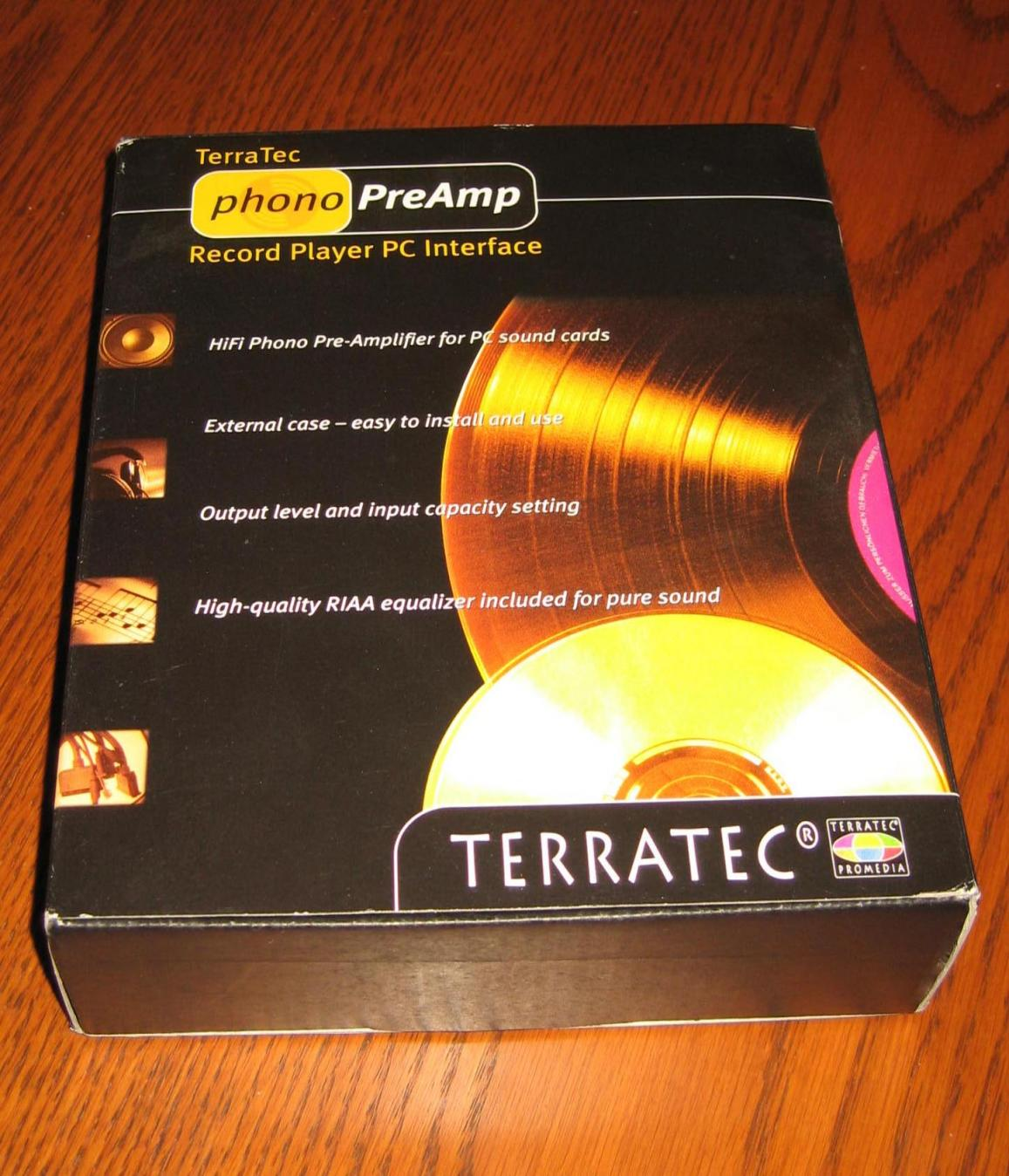 For Sale Terratec Phono Preamp Turntable To Soundcard Interface Preamplifier